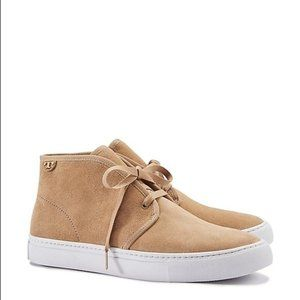 Tory Burch Iggy Suede Lace Up Sneaker Light Camel Colour Size 6